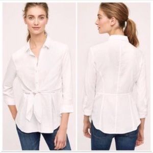 Anthropologie HD in Paris White Button Down Blouse
